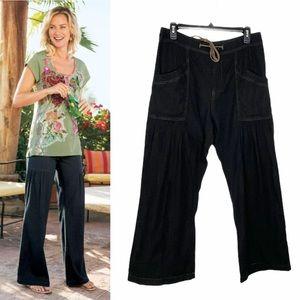 Soft Surroundings Petite Denim Terrace Pants
